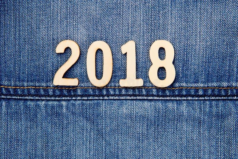 牛仔布2018年 免版税图库摄影