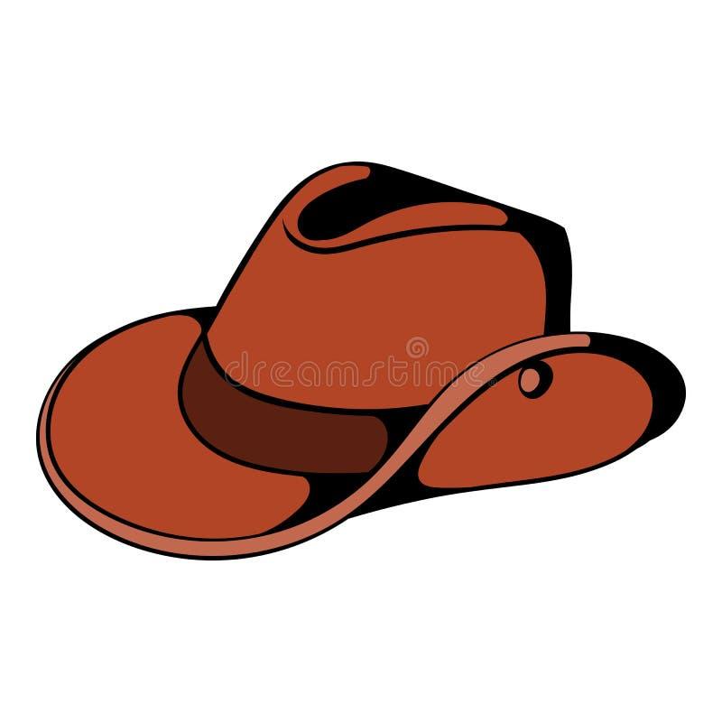 牛仔帽象动画片 库存例证