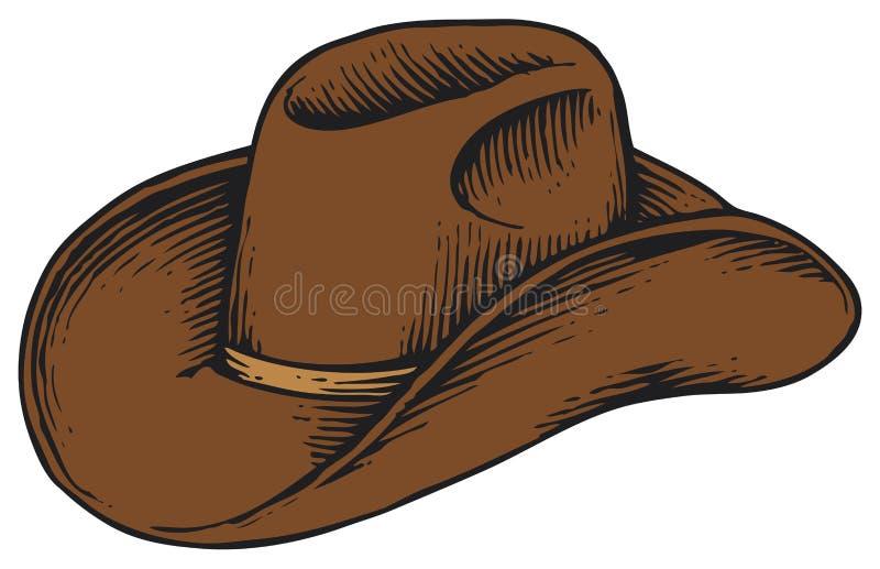 牛仔帽马乘驾使用 向量例证
