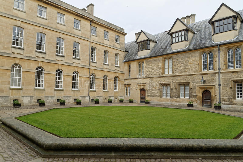 牛津房子 库存图片