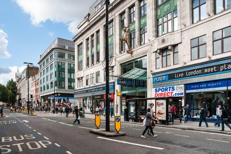 牛津街在伦敦,英国 免版税库存照片