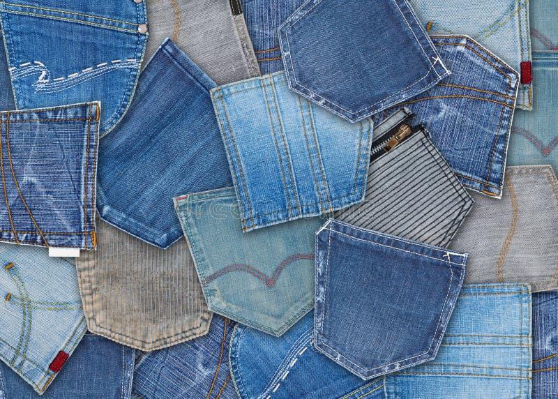 牛仔裤口袋 免版税库存照片