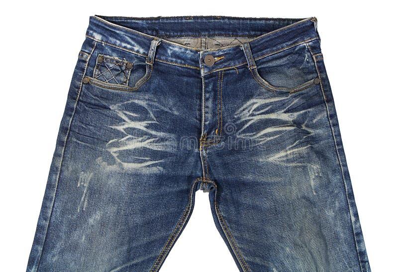 牛仔裤美妙地详述 免版税库存照片