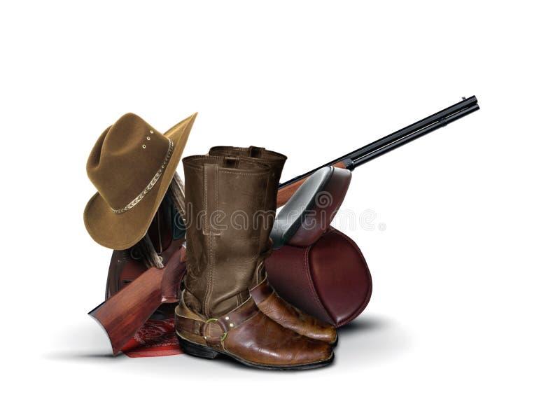 牛仔设备 免版税库存图片