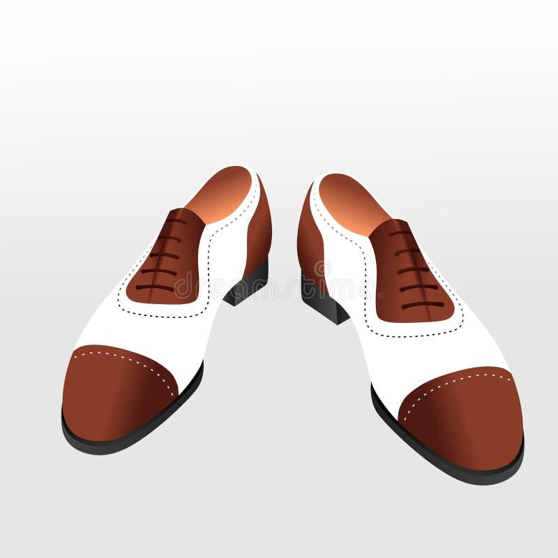 牛津鞋子 皇族释放例证