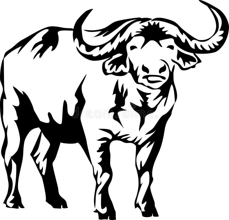 水牛 向量例证