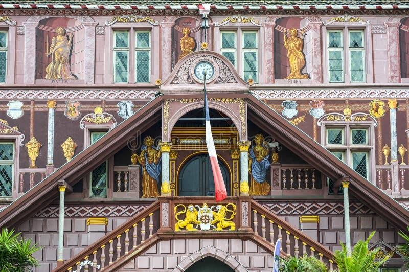 牟罗兹-历史的宫殿 免版税库存照片