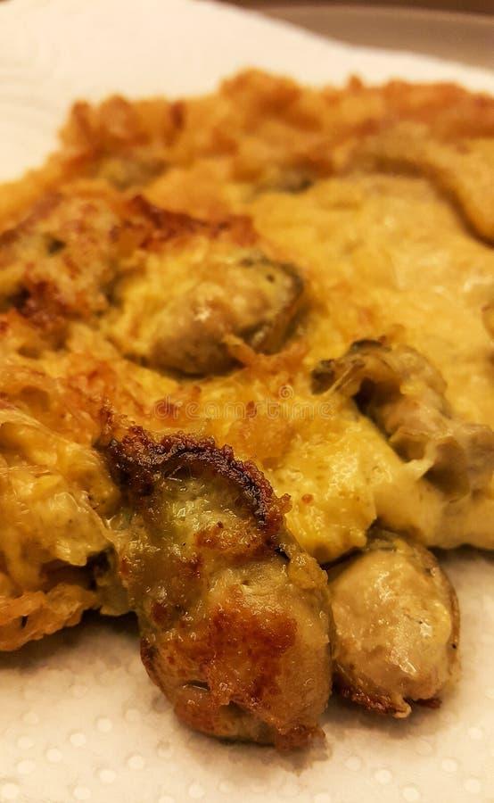 牡蛎Omelete 库存图片