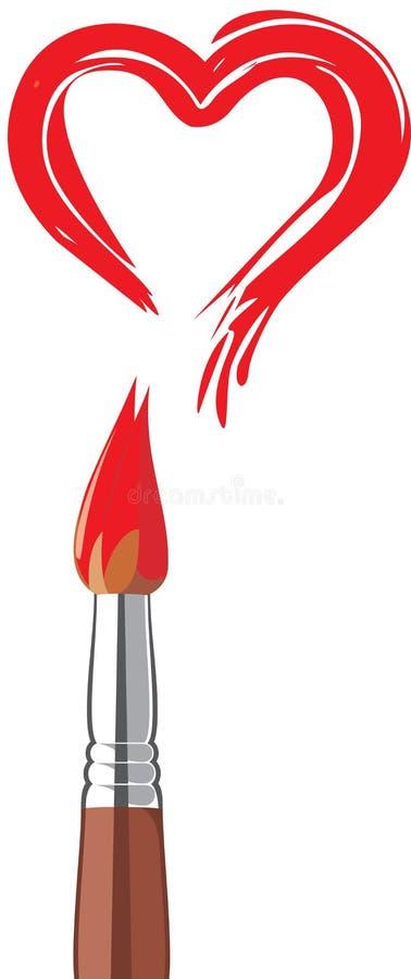 牡鹿红色valentin 向量例证