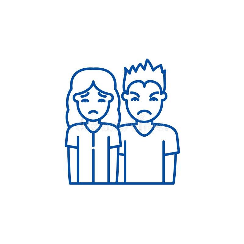 牢骚线象概念 牢骚平的传染媒介标志,标志,概述例证 库存例证
