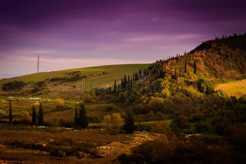 牧人秋天风景环境 库存图片