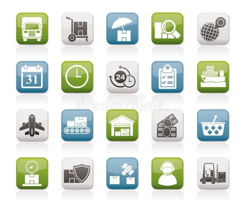 货物、运输和后勤学象 库存例证