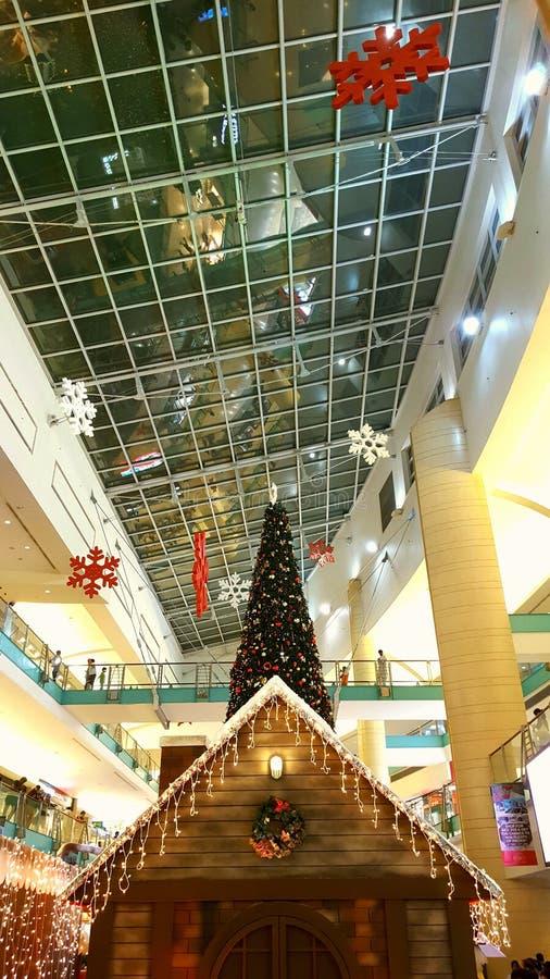 购物中心圣诞节庆祝 图库摄影