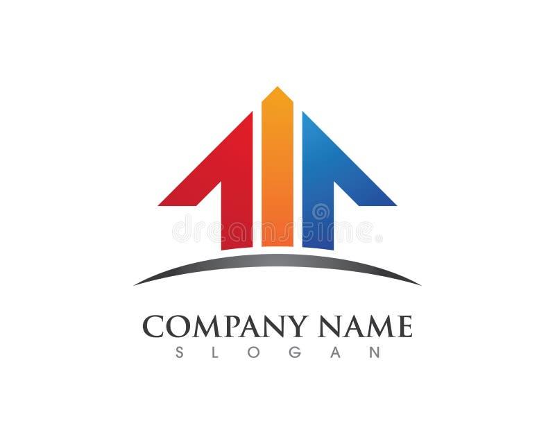 物产和建筑商标 向量例证