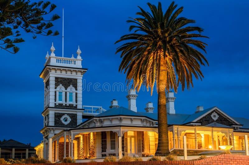 物产在Glenelg,南澳大利亚 使用长的exp被采取的图象 库存照片