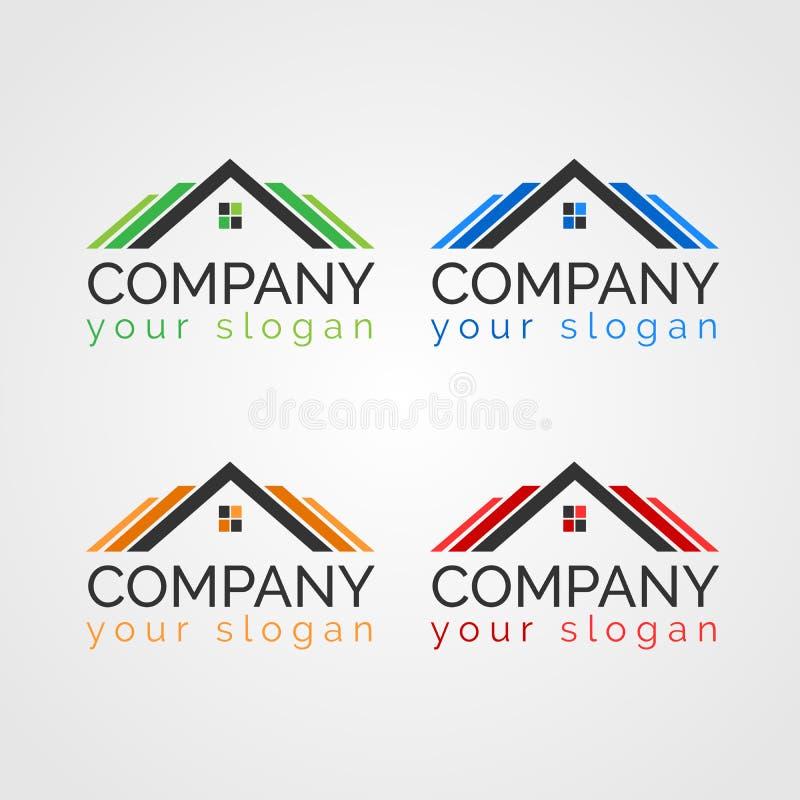 物产房地产商标模板 库存照片