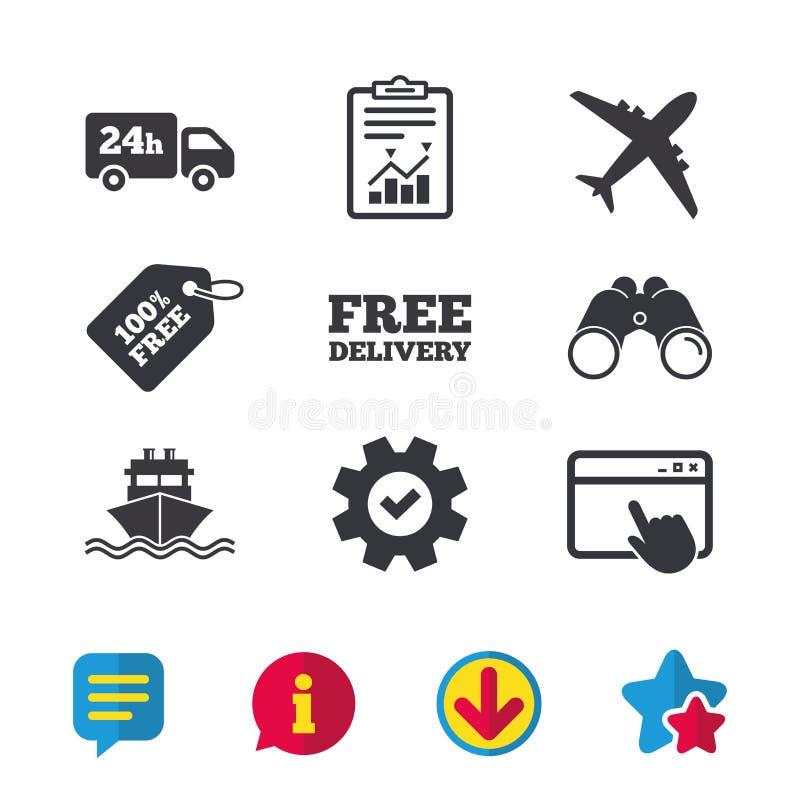货物卡车,运输 自由送货业务 皇族释放例证
