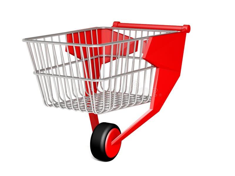购物台车3翻译 向量例证