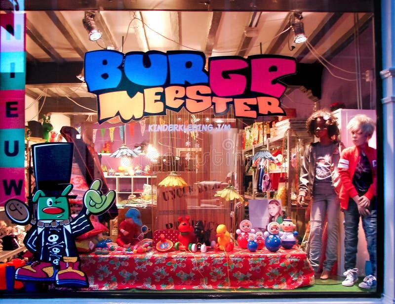 物品商店展示窗口孩子的 免版税图库摄影