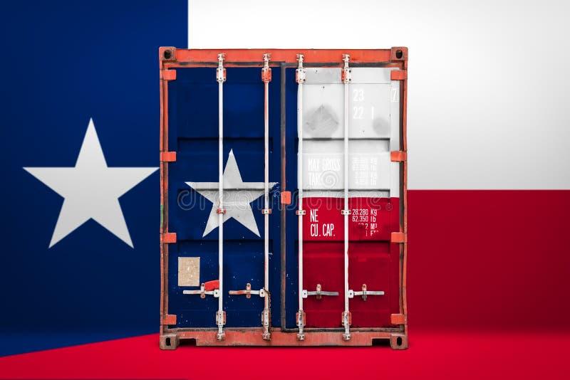 物品状态进出口和全国交付的概念  免版税库存照片