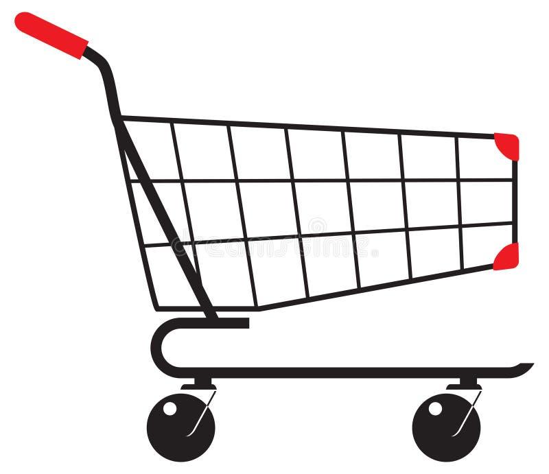 物品的推车在商店 向量例证