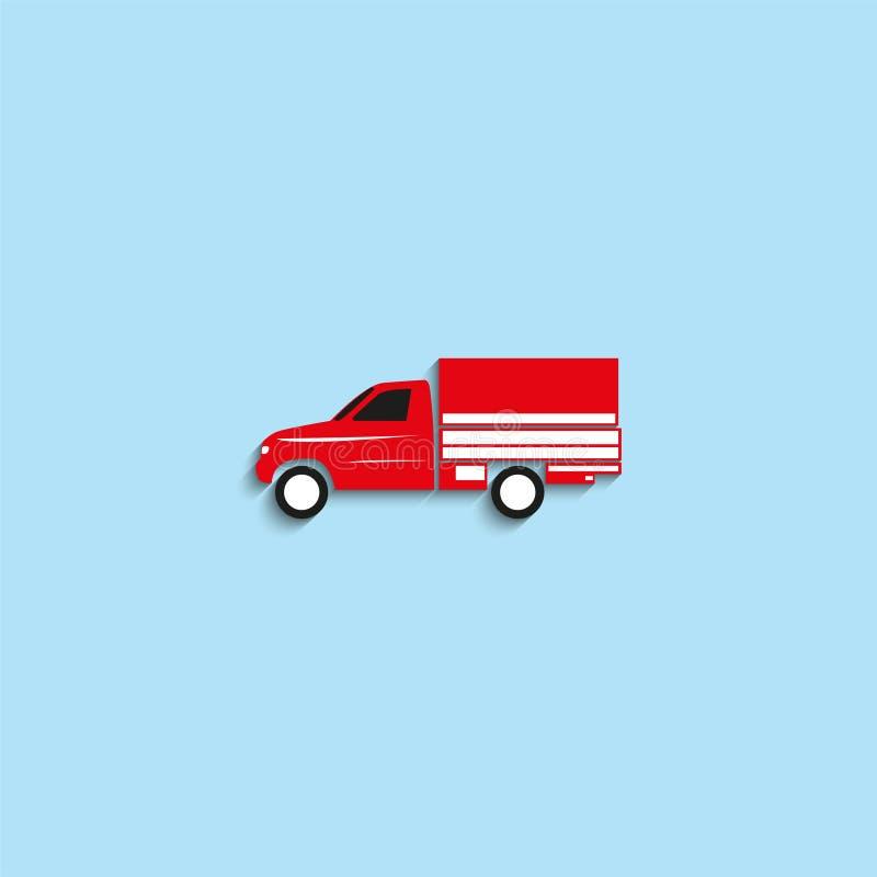 物品的运输的卡车 适应图标 向量例证