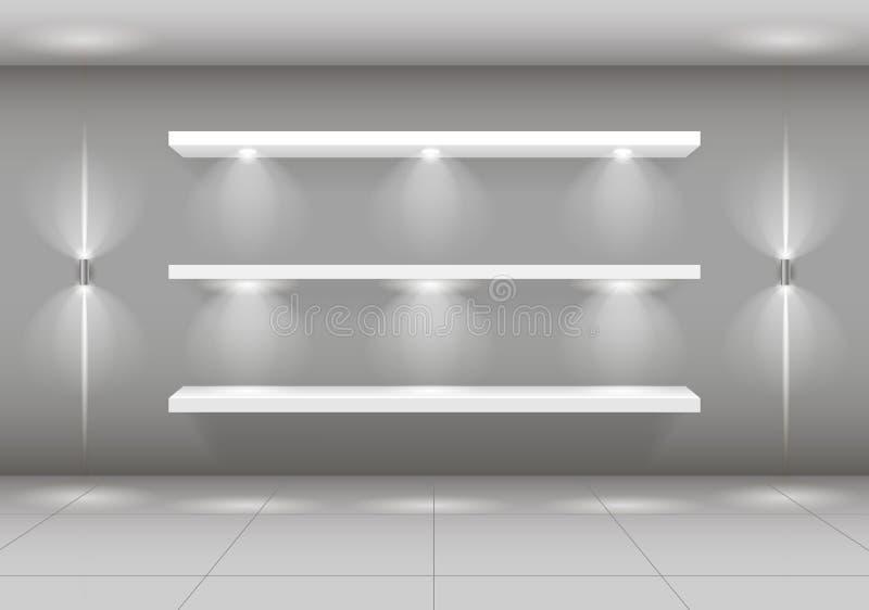 物品的陈列窗架子 向量例证