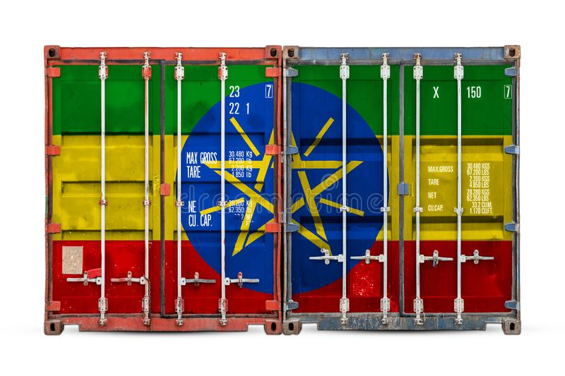 物品进出口和全国交付的概念  皇族释放例证
