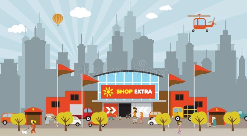 购物在城市 免版税库存图片