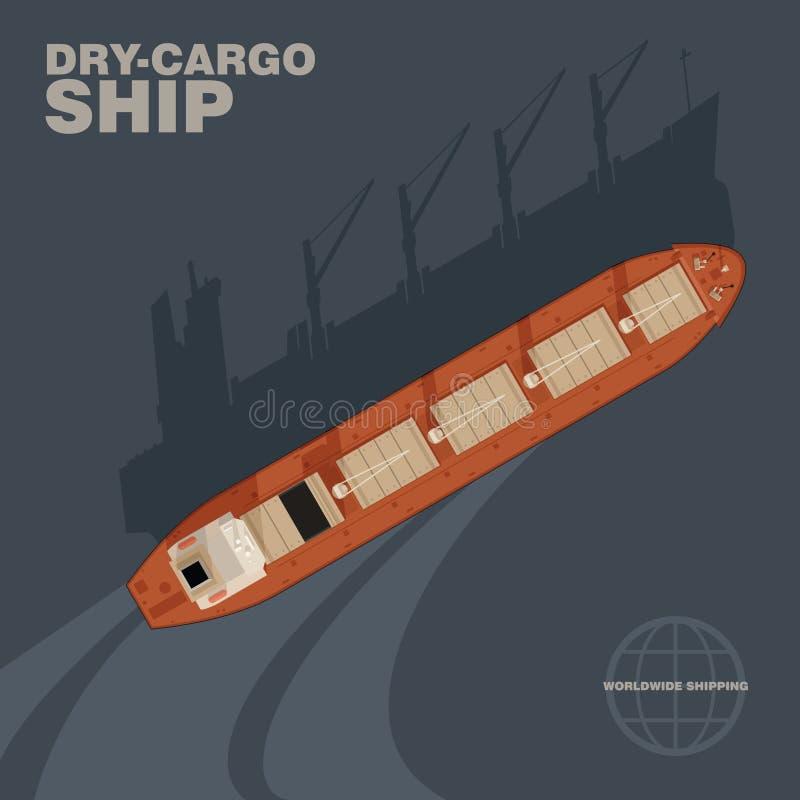 货物干燥船 向量例证