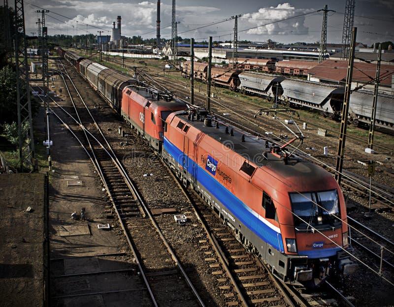 货物火车 库存图片