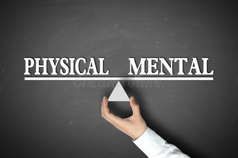 物理心理平衡 免版税库存照片
