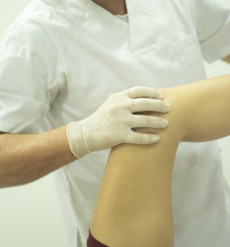 物理疗法整骨疗法生理治疗师 免版税库存图片
