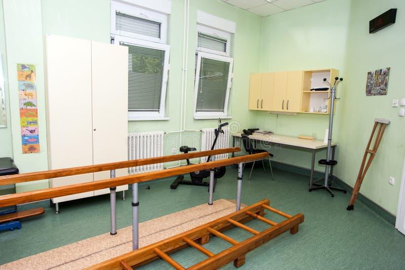 物理疗法诊所的空的室 免版税库存图片