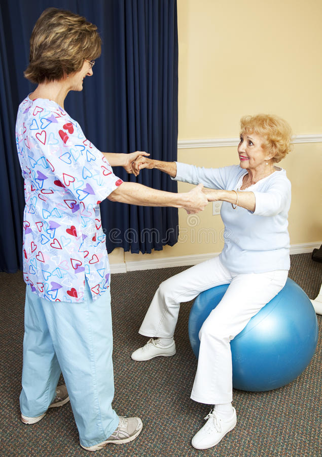 物理疗法锻炼 免版税库存照片
