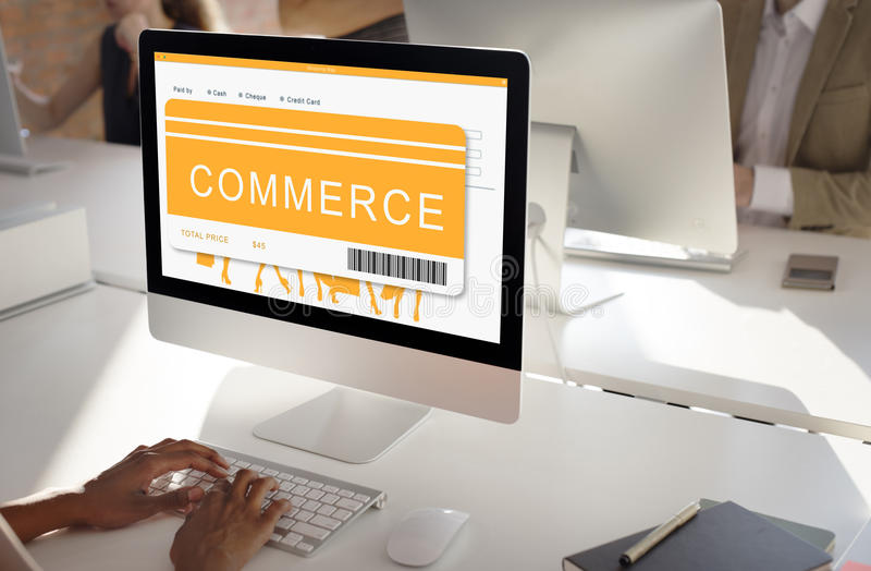 购物的网上命令购买买的概念 免版税图库摄影