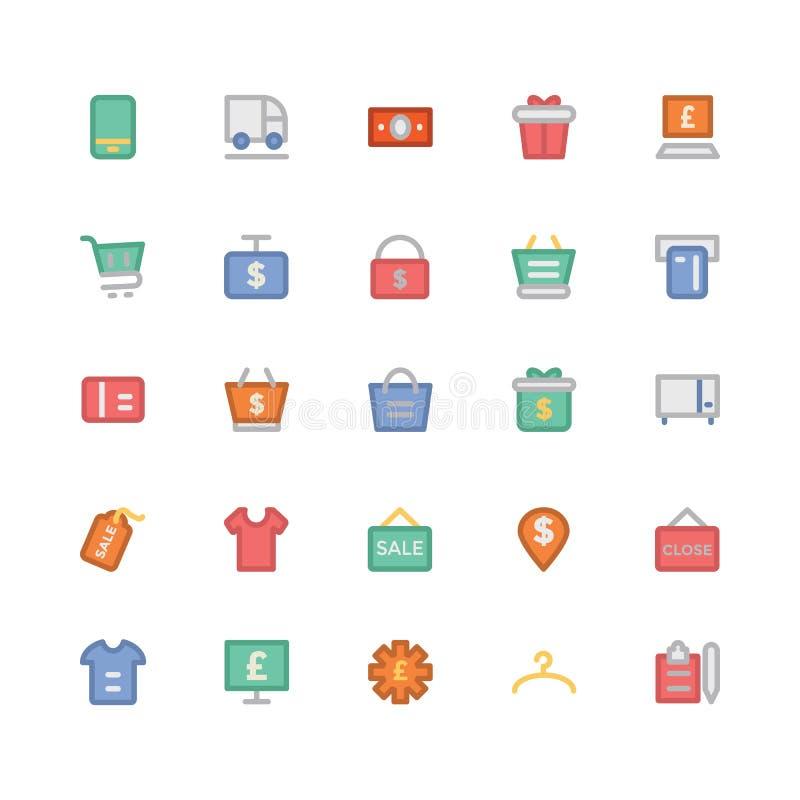 购物的色的传染媒介象8 库存例证