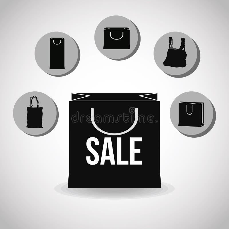 购物的设计 E 概念玻璃现有量扩大化的销售额 库存例证