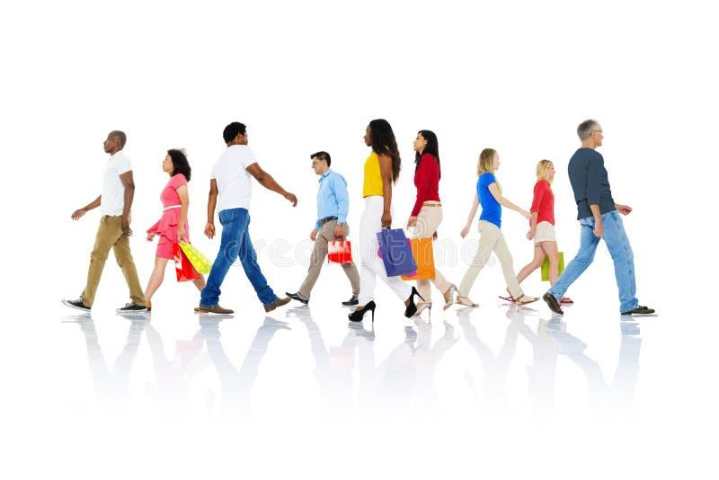 购物的购买零售顾客消费者销售概念 库存照片