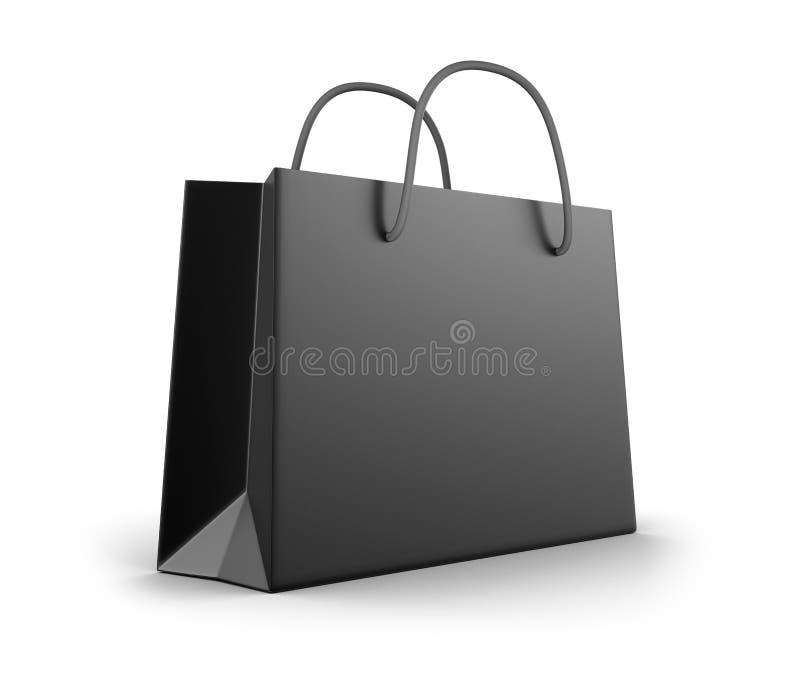 黑购物袋 皇族释放例证