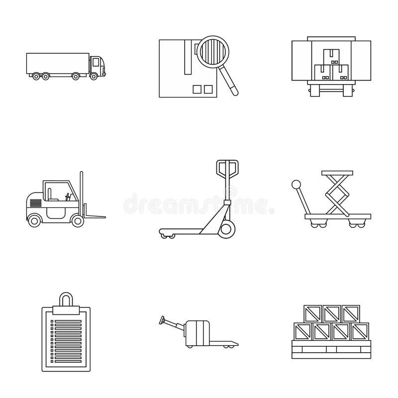 货物被设置的包装象,概述样式 库存例证