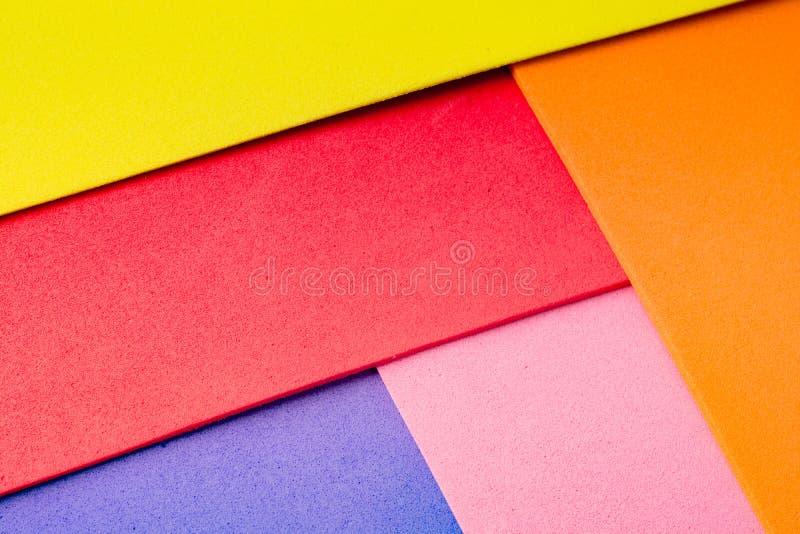 物质设计五颜六色的层数 库存照片