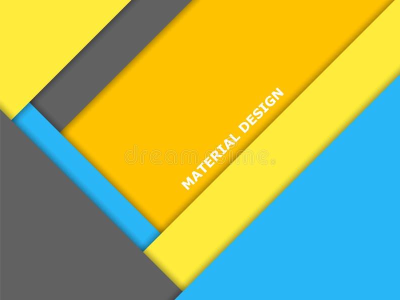 物质设计传染媒介背景,现代颜色 向量例证
