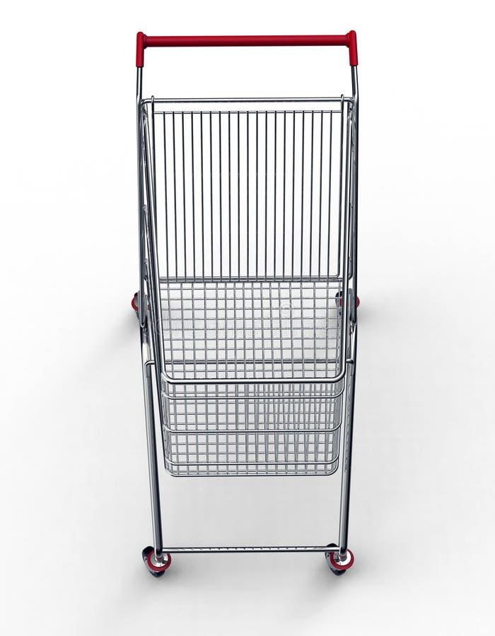 购物车查出的购物的白色 向量例证