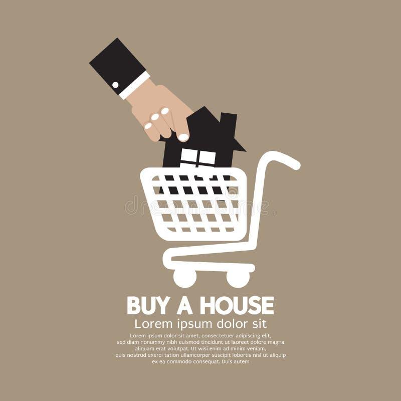 购物车购买的议院议院概念 向量例证
