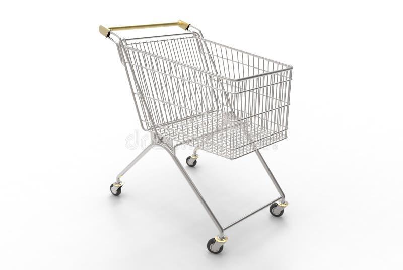 购物车(金子和银) 免版税图库摄影