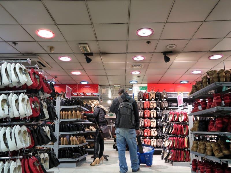购物鞋子 免版税库存图片