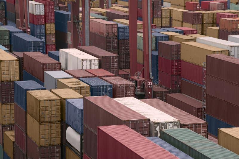 货物货物造船厂 图库摄影