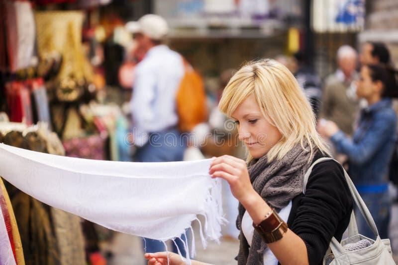购物turist 库存图片