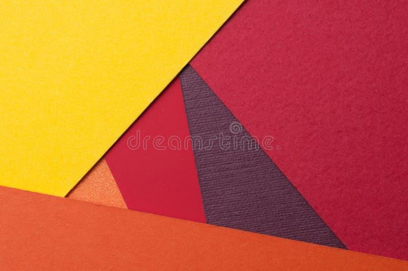 物质设计宏观背景,关闭织地不很细纸,重的纸盒,色的纸板 免版税库存图片